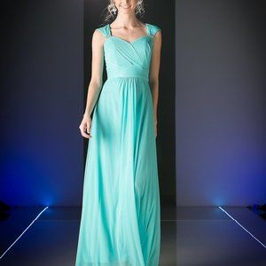 Mint Bridesmaid Long Evening Dress CD3831